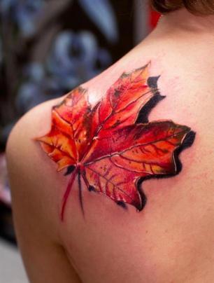 Tatuagem-3D-Feminina- folha
