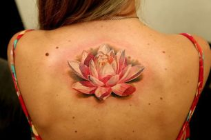 tatuagem 3d flor de lotus 2