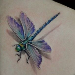 tatuagem 3d libelula