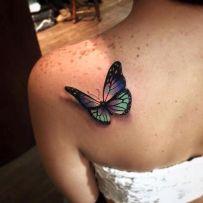tattoo borboleta 3d