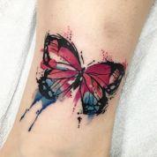 tattoo borboleta aquarela