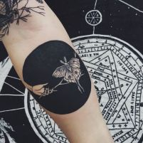 tattoo borboleta black