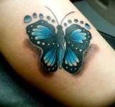 tattoo borboleta pés bebês