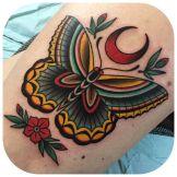tattoo borboleta tradicional